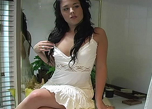 Backstage - photoshoot - White dress Teasing 1